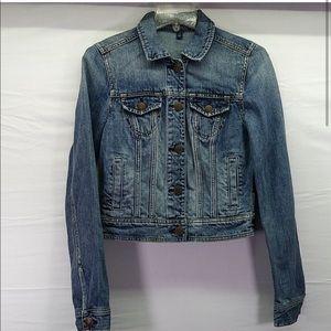 American Eagle blue jean jacket (C)